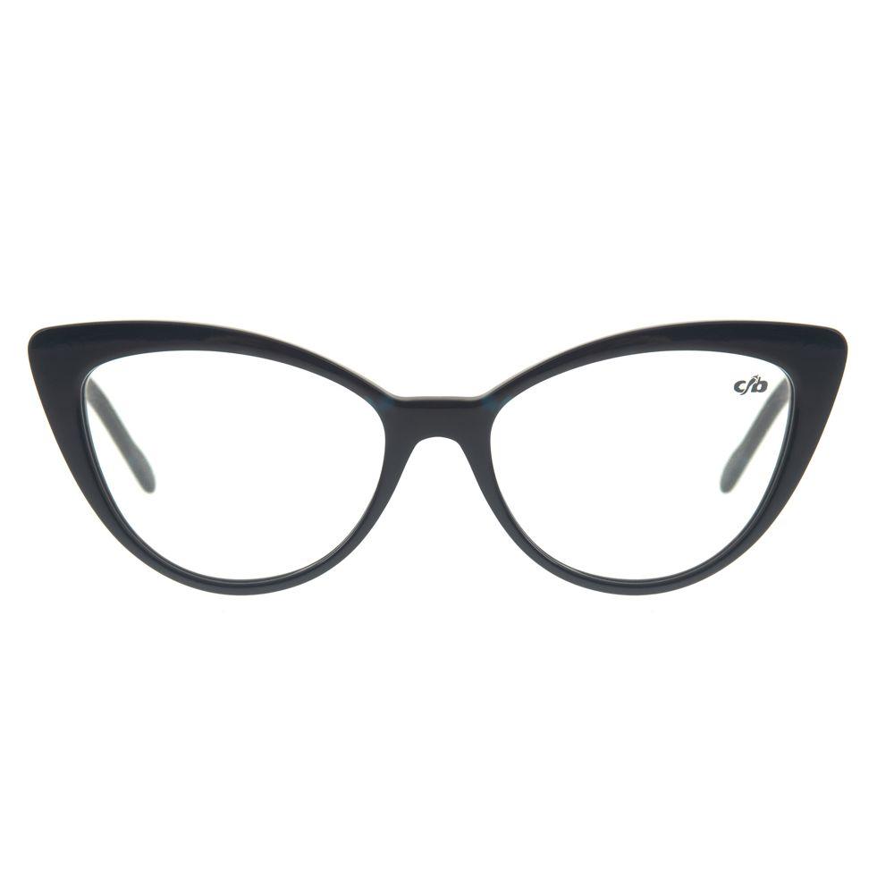 d3db1649f Armação para óculos de GrauChilli Beans Gatinho Feminino Azul Escuro -  LV.AC.0462.9090 M