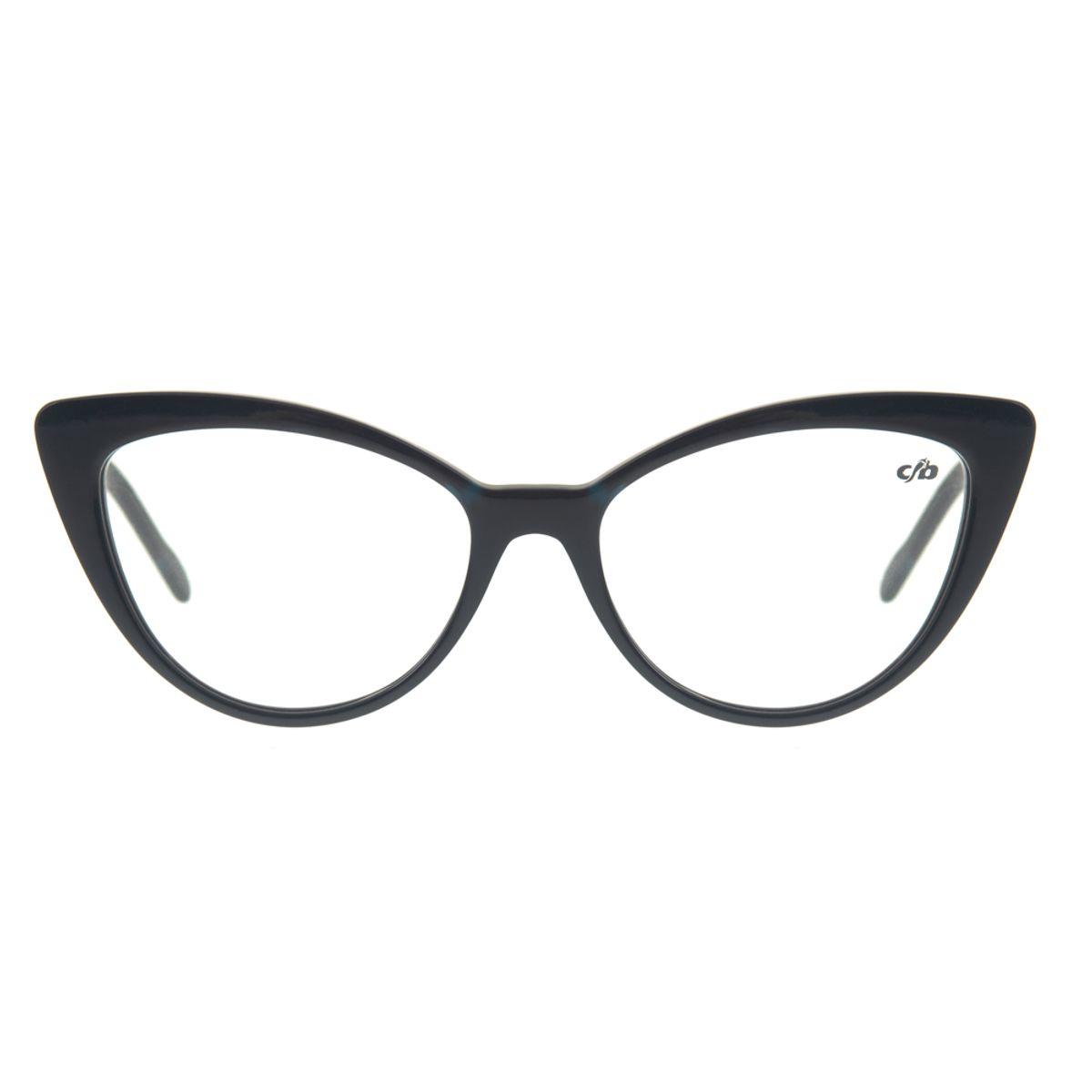 40c1d5be9 Armação para óculos de Grau Chilli Beans Gatinho Feminino Azul ...