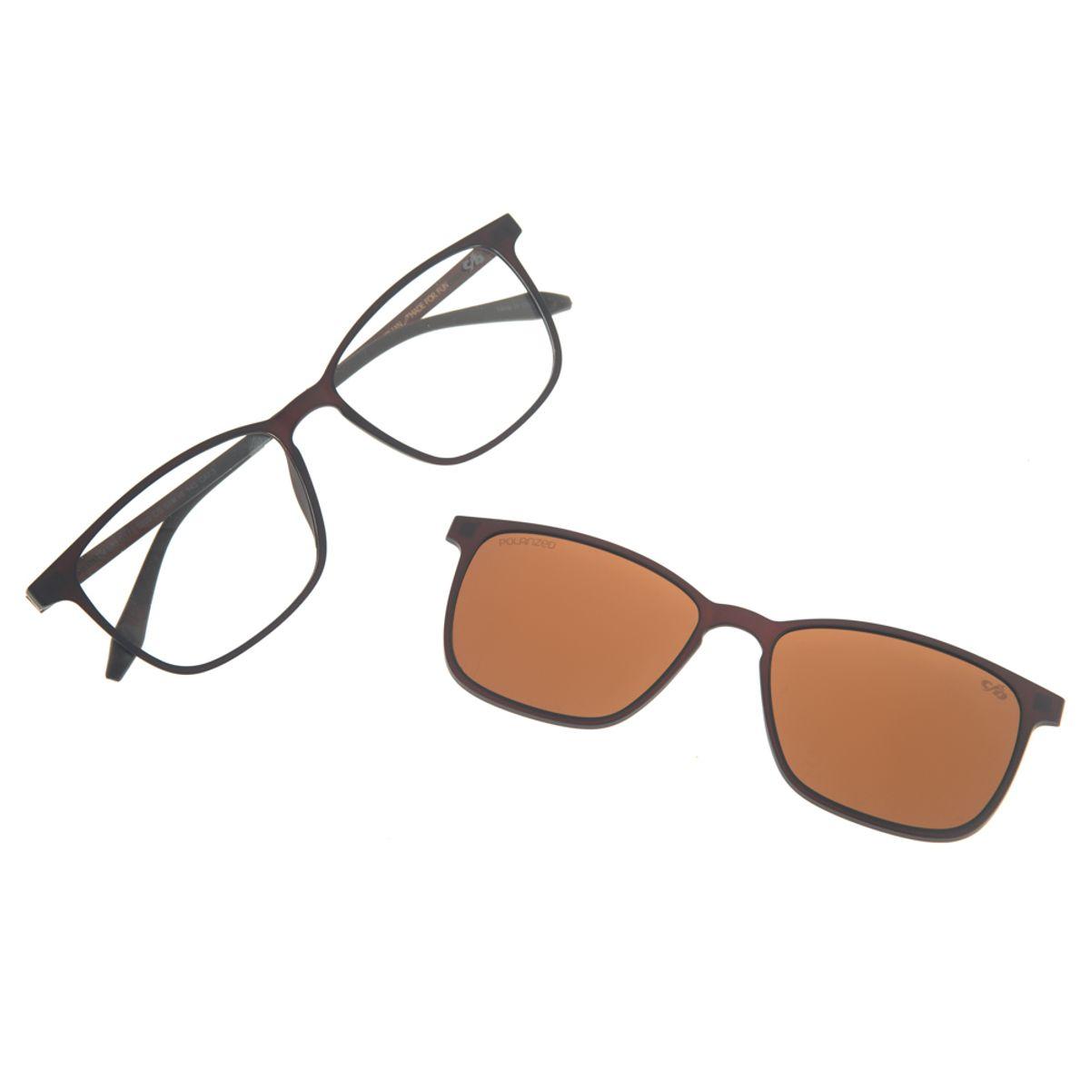 c24f5227c1a38 Armação para óculos de Grau Masculina Chilli Beans Multi 2 em 1 ...