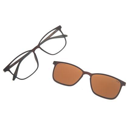 Armação Para Óculos de Grau Masculino Chilli Beans Multi Marrom Polarizado LV.MU.0175-0202
