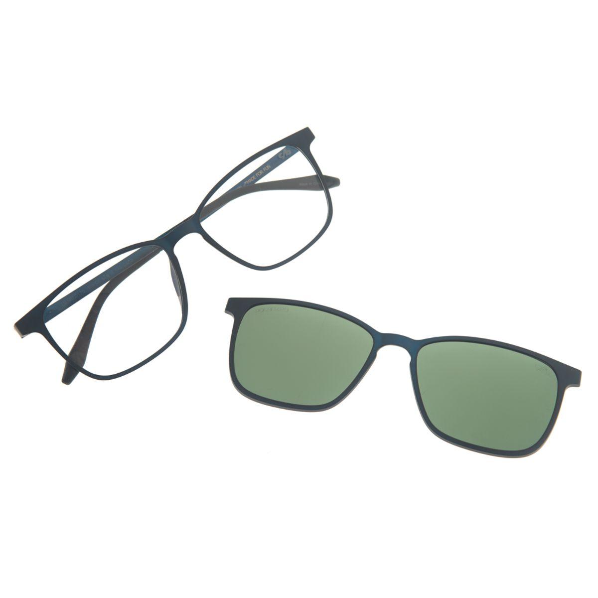 00fb29a41 Armação para óculos de Grau Masculina Chilli Beans Multi 2 em 1 Azul ...