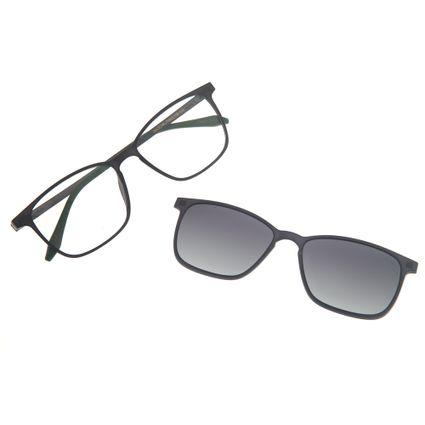 cf4474d2efec4 Armação para óculos de Grau Masculina Chilli Beans Multi 2 em 1 Cinza  Polarizado 0175