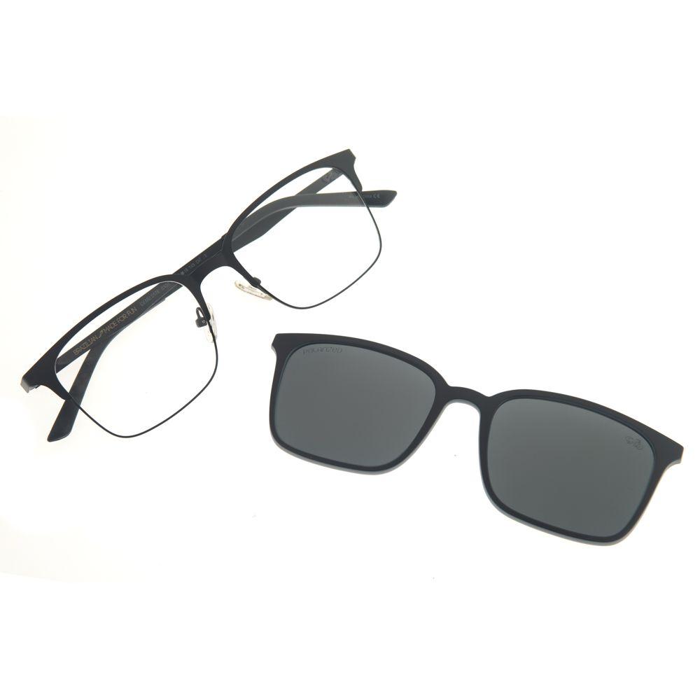 63e8224347e04 Armação para óculos de Grau Chilli Beans Multi 2 em 1 Preto ...