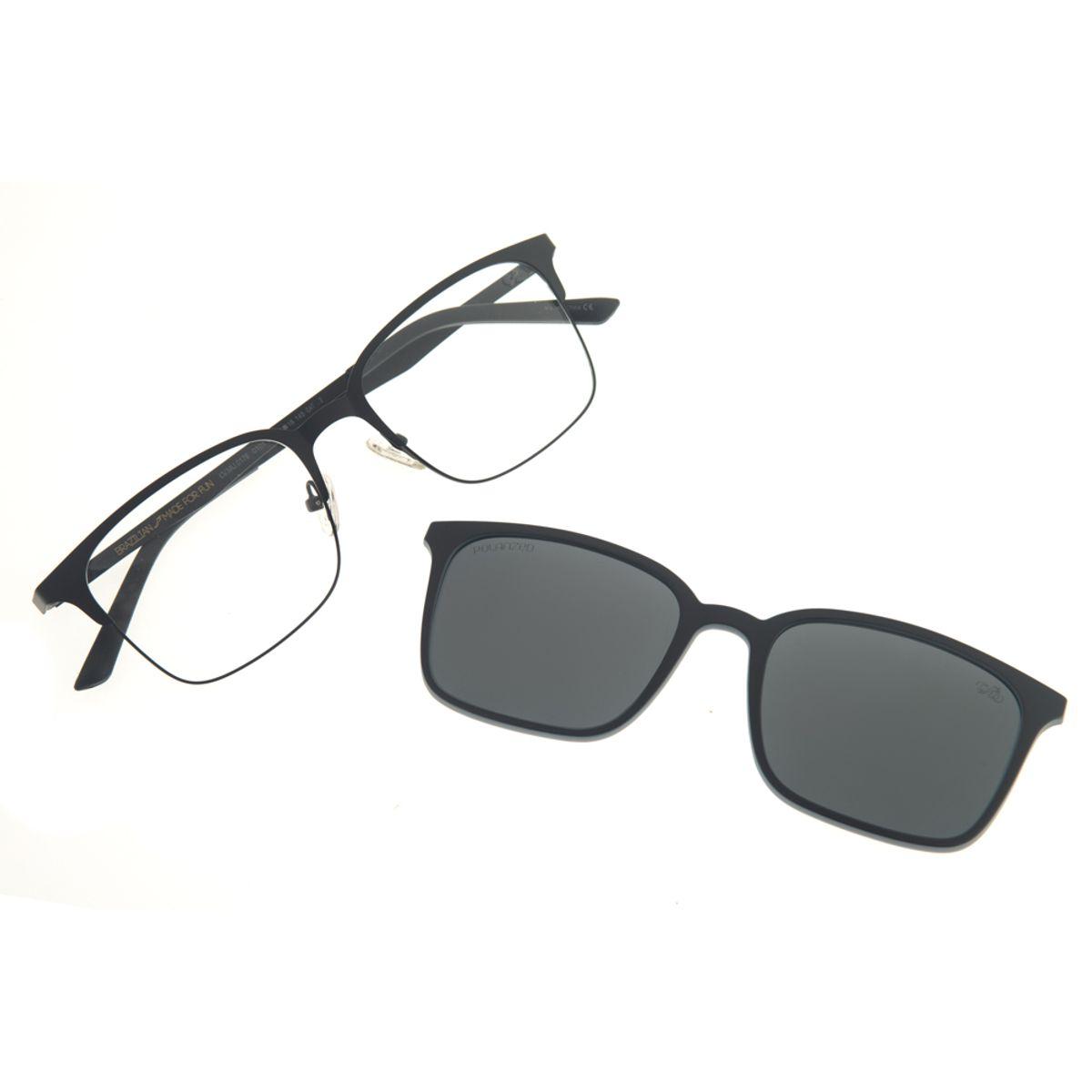2a8d4ef68ed21 Armação para óculos de Grau Chilli Beans Multi 2 em 1 Preto ...