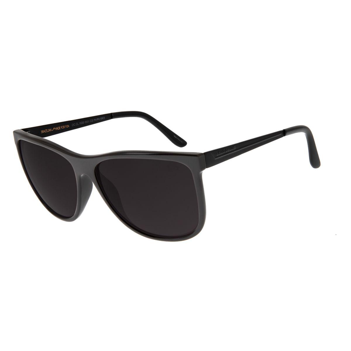 8eb743795 Óculos de Sol Feminino Chilli Beans Quadrado Preto 1836 - Chilli Beans