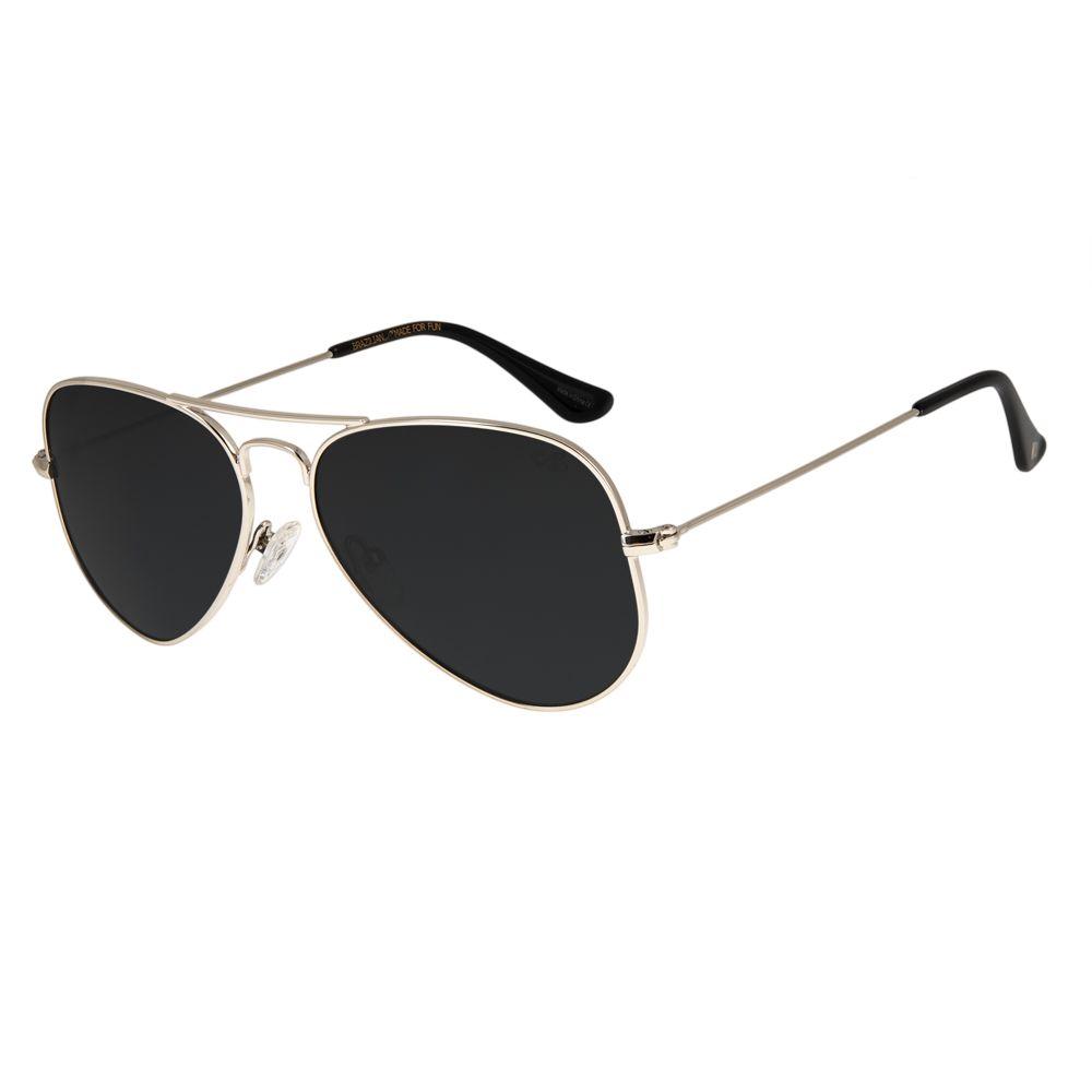 Óculos de Sol Unissex Chilli Beans Aviador Essential Polarizado Brilho OC.MT.2512-0130
