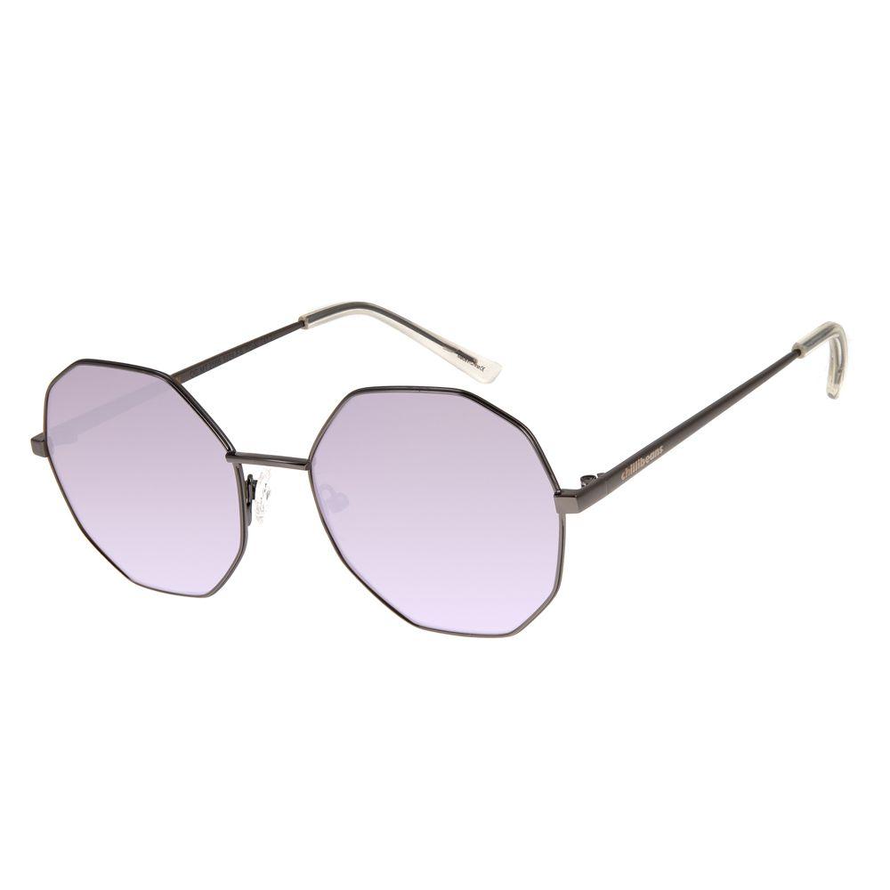 268003818 Óculos de Sol Chilli Beans Feminino Octagonal Rosa 2566 - OC.MT.2566.3224 M