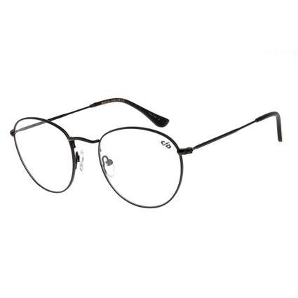 Armação para Óculos de Grau Unissex Chilli Beans Redonda Preta LV.MT.0304-0101