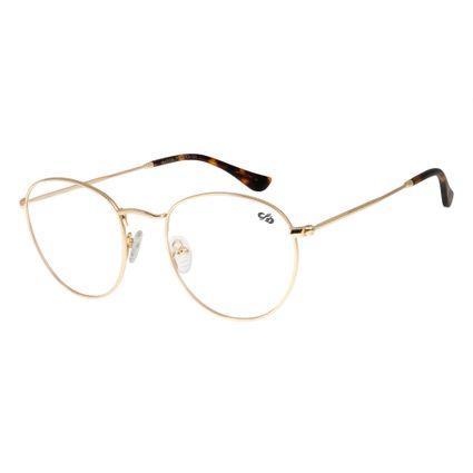 Armação Para Óculos De Grau Unissex Chilli Beans Redondo Dourado LV.MT.0304-2121