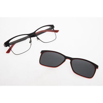 57e37b6fcc2d2 Armação para óculos de grau Chilli Beans Unissex Multi 2 em 1 Preto 0177.