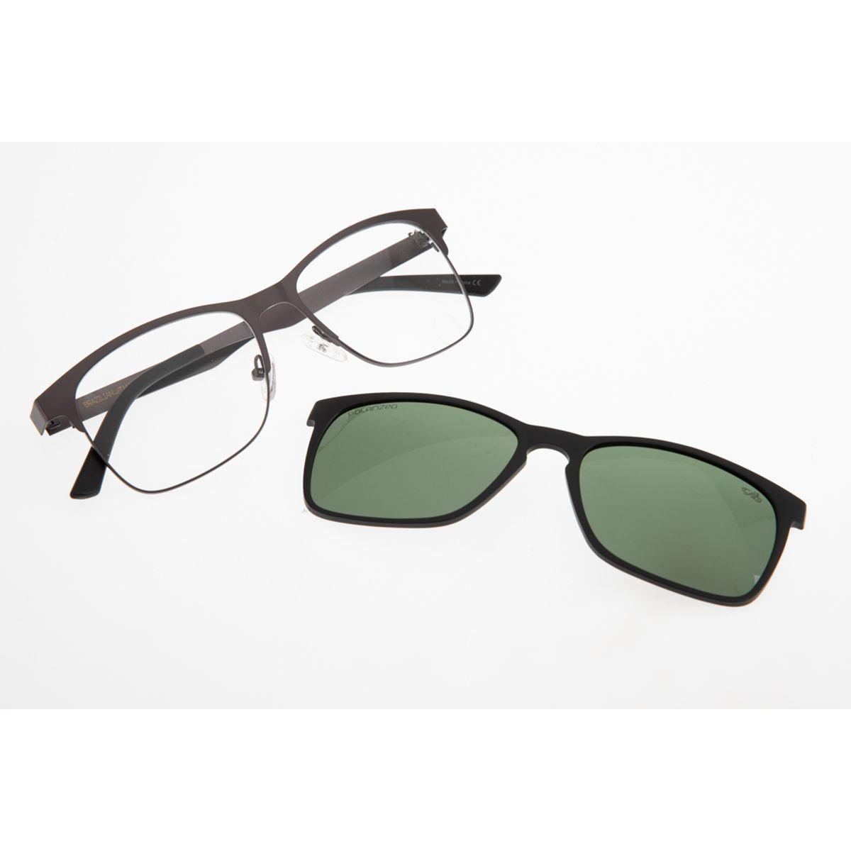 8a9c8a2b2 Armação para óculos de grau Chilli Beans Unissex Multi 2 em 1 Cinza ...