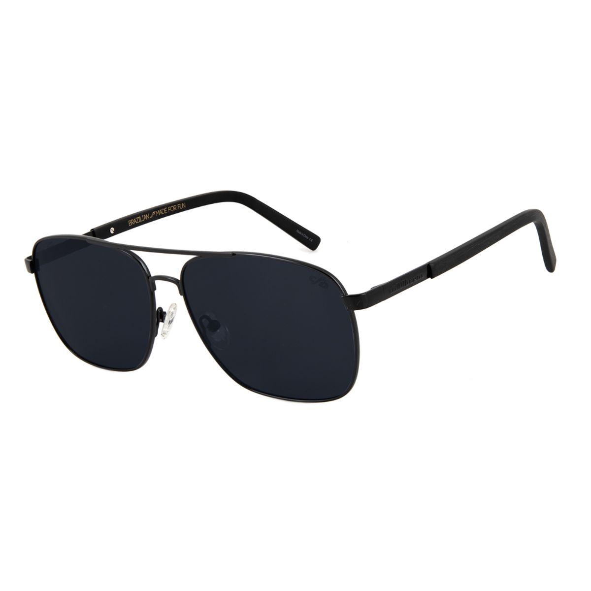 9e4d4effbfa62 Óculos de Sol Chilli Beans Executivo Masculino Polarizado Preto 2612 ...