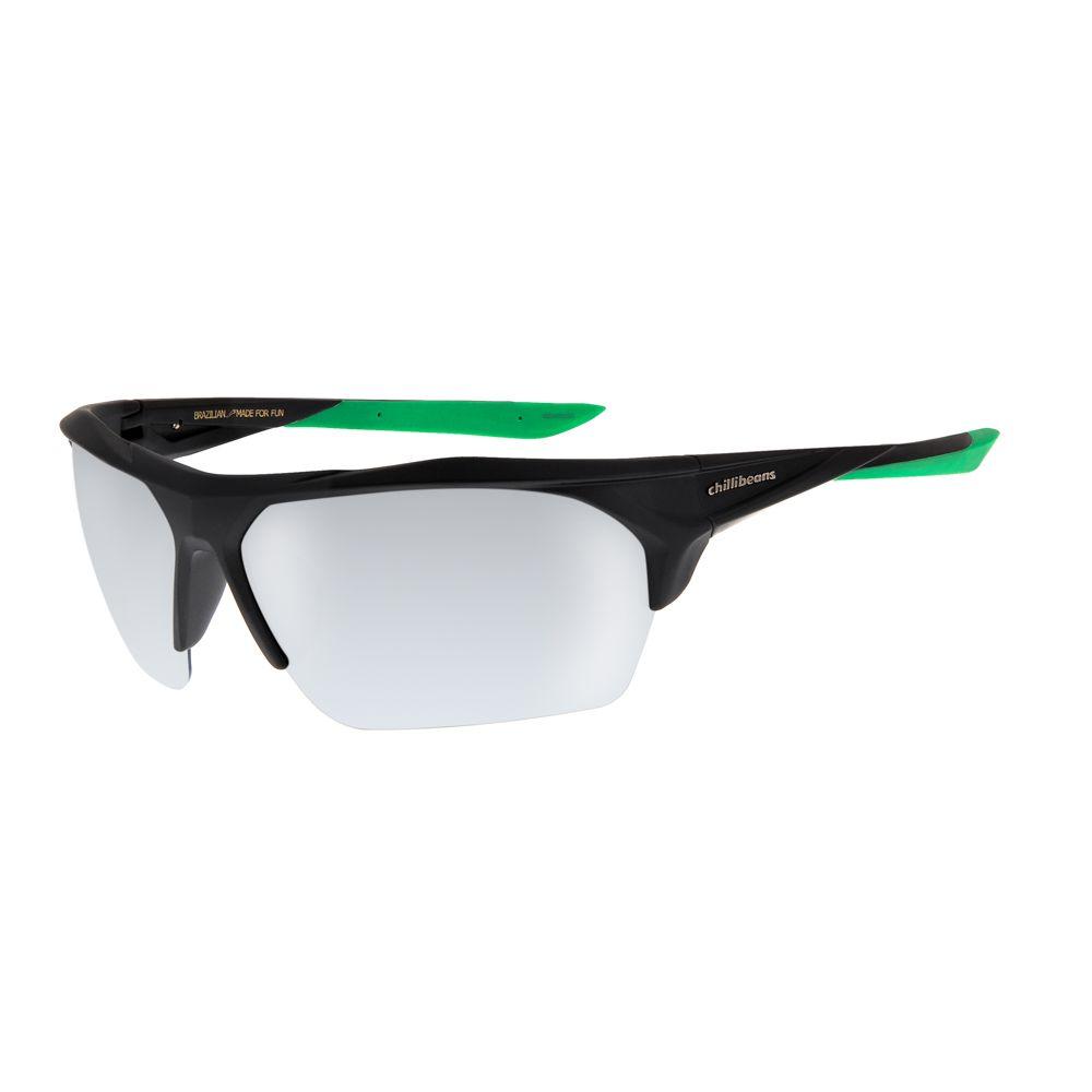 16721af3f Óculos De Sol Chilli Beans Masculino Esporte Preto Espelhado Polarizado  1163 - OC.ES.1163.3201 G
