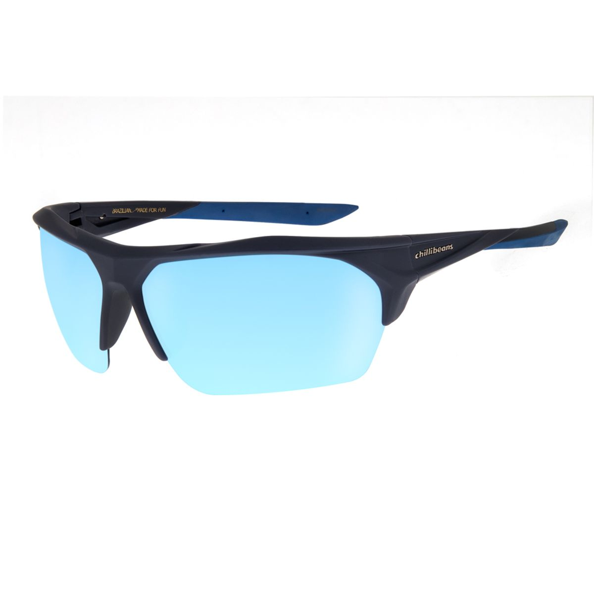 a36abc221 Óculos De Sol Chilli Beans Masculino Esporte Azul Espelhado ...