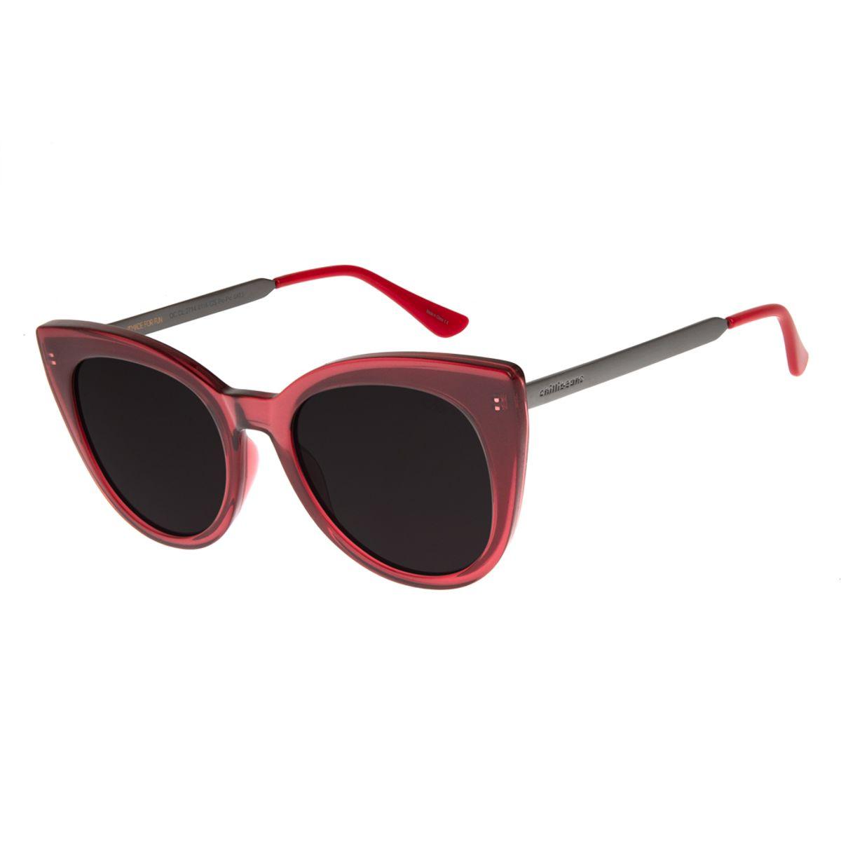 bd2dd60a8f96f Óculos De Sol Chilli Beans Feminino Gatinho Vermelho 2714 - Chilli Beans