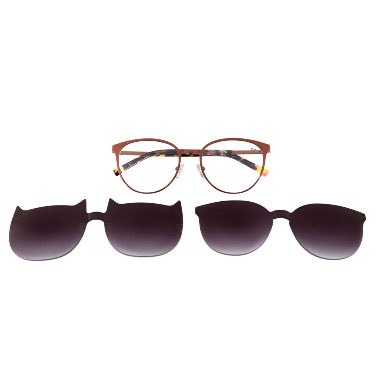 561cdf4f5 Armação para Óculos de Grau Chilli Beans Multi 2 em 1 Gatinho Vinho ...