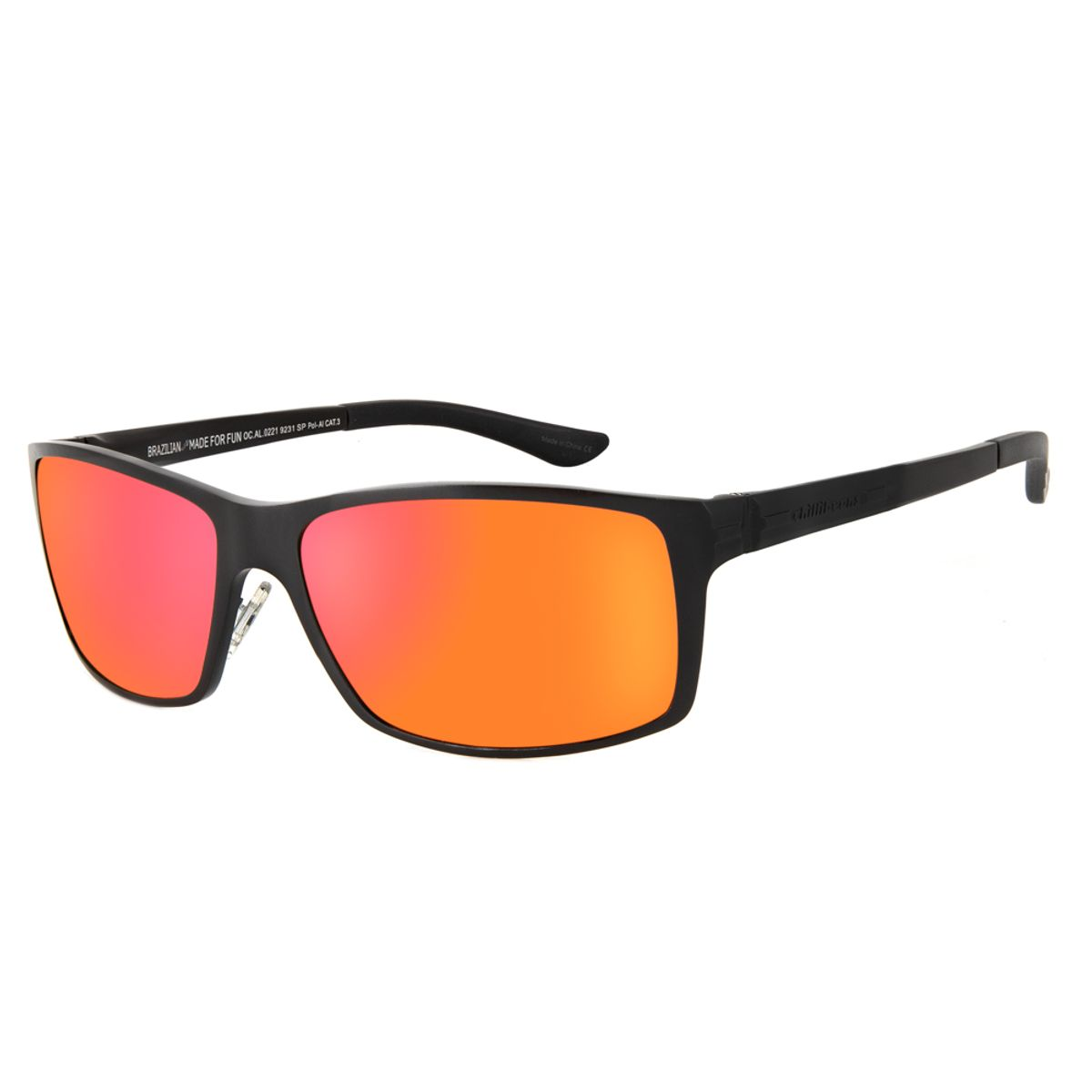 006ecd64b Óculos de Sol Chilli Beans Masculino Esportivo Polarizado Preto Fosco 0221  - OC.AL.0221.9231 M. REF: OC.AL.0221.9231. OC.