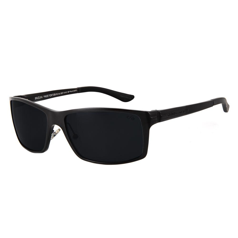 86ca7cef62828 Óculos de Sol Chilli Beans Masculino Esportivo Polarizado Preto 0221 ...