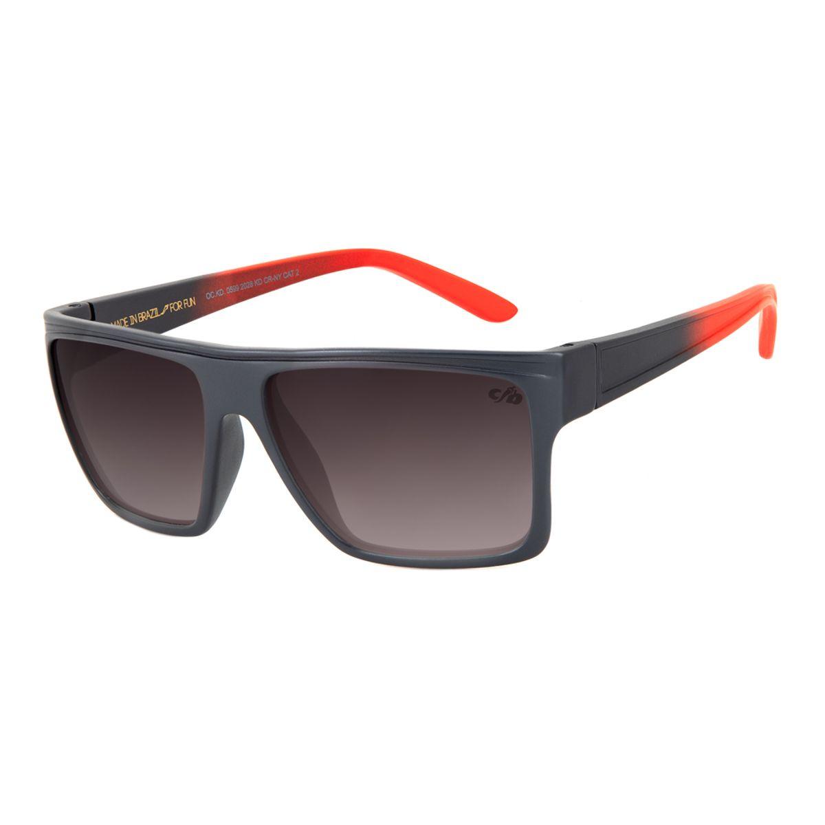 0d0843d57 Óculos de Sol Chilli Beans Infantil Quadrado Cinza Escuro 0599 ...