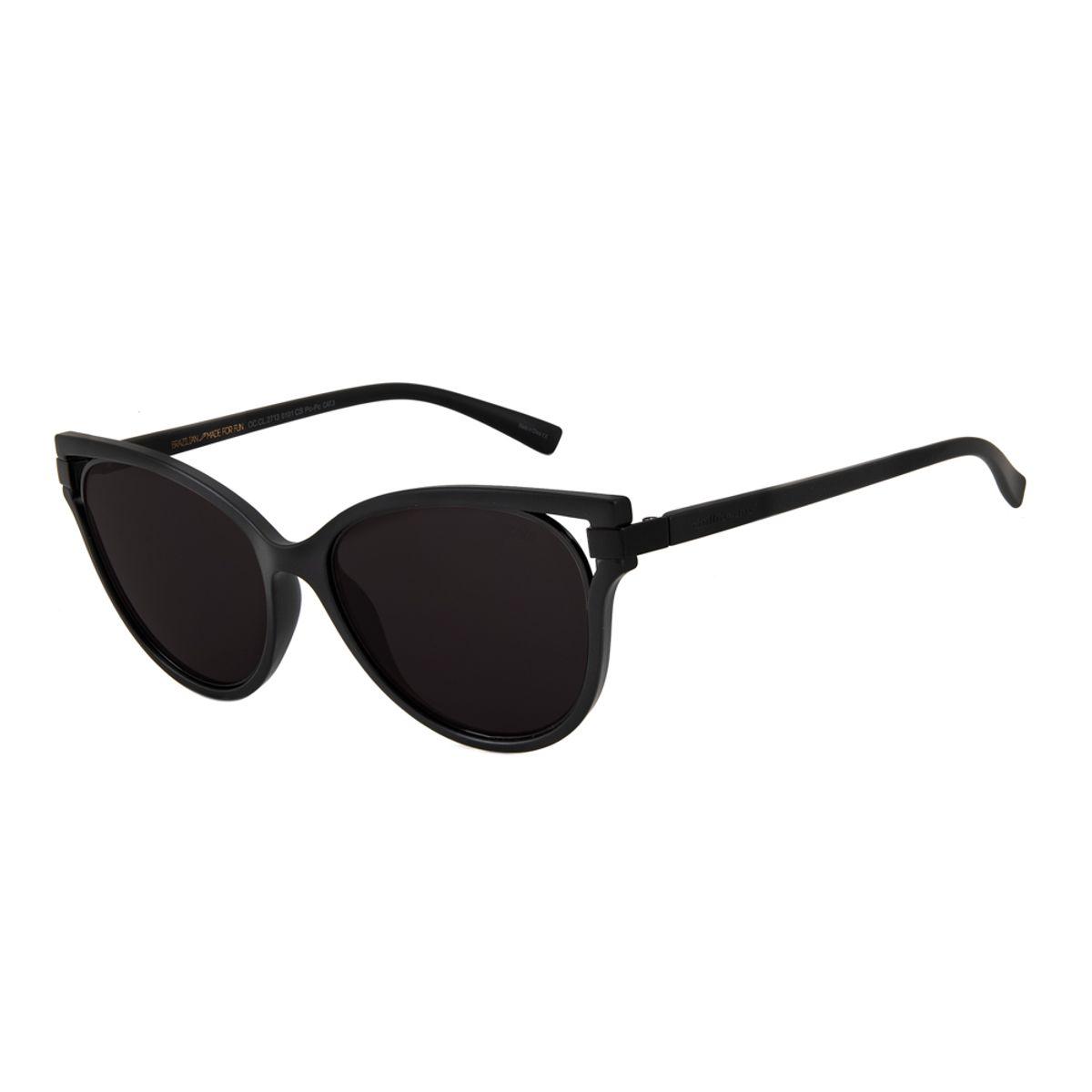 2708d5f7f2964 Óculos de Sol Feminino Chilli Beans Máxi Gatinho Preto 2713 - Chilli ...