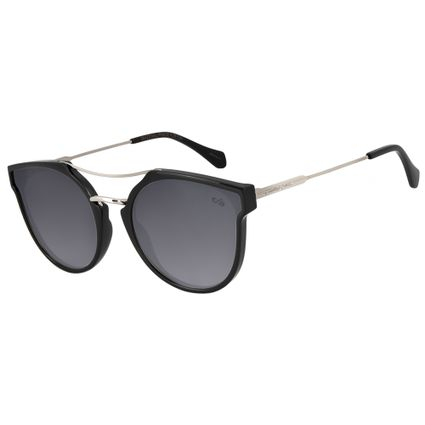 6b5a922424c30 Óculos de Sol Feminino Chilli Beans Curvo Preto Espelhado 2716