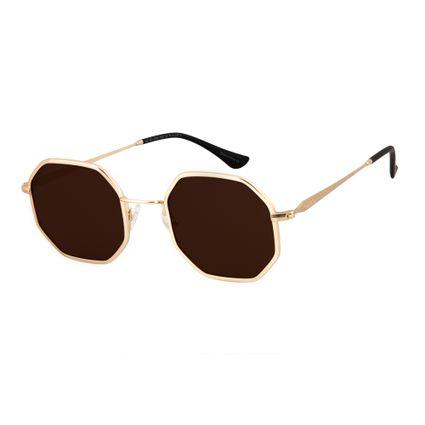 19066b7792685 Óculos de Sol Masculino Chilli Beans Vintage por Marcelo Sommer Dourado 2598