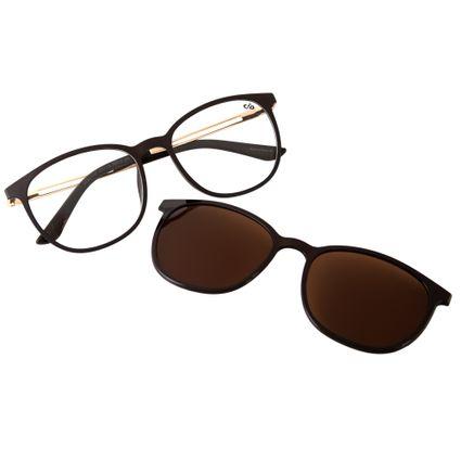 b22e91dc06bd0 Armação para Óculos de Grau Feminino Chilli Beans Multi Polarizada Marrom  0187