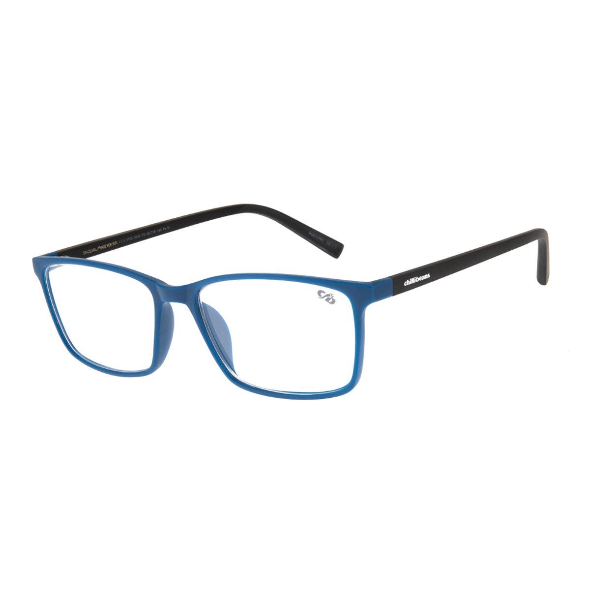 03a5890b1 Armação para Óculos de Grau Masculino Chilli Beans Retangular Azul ...