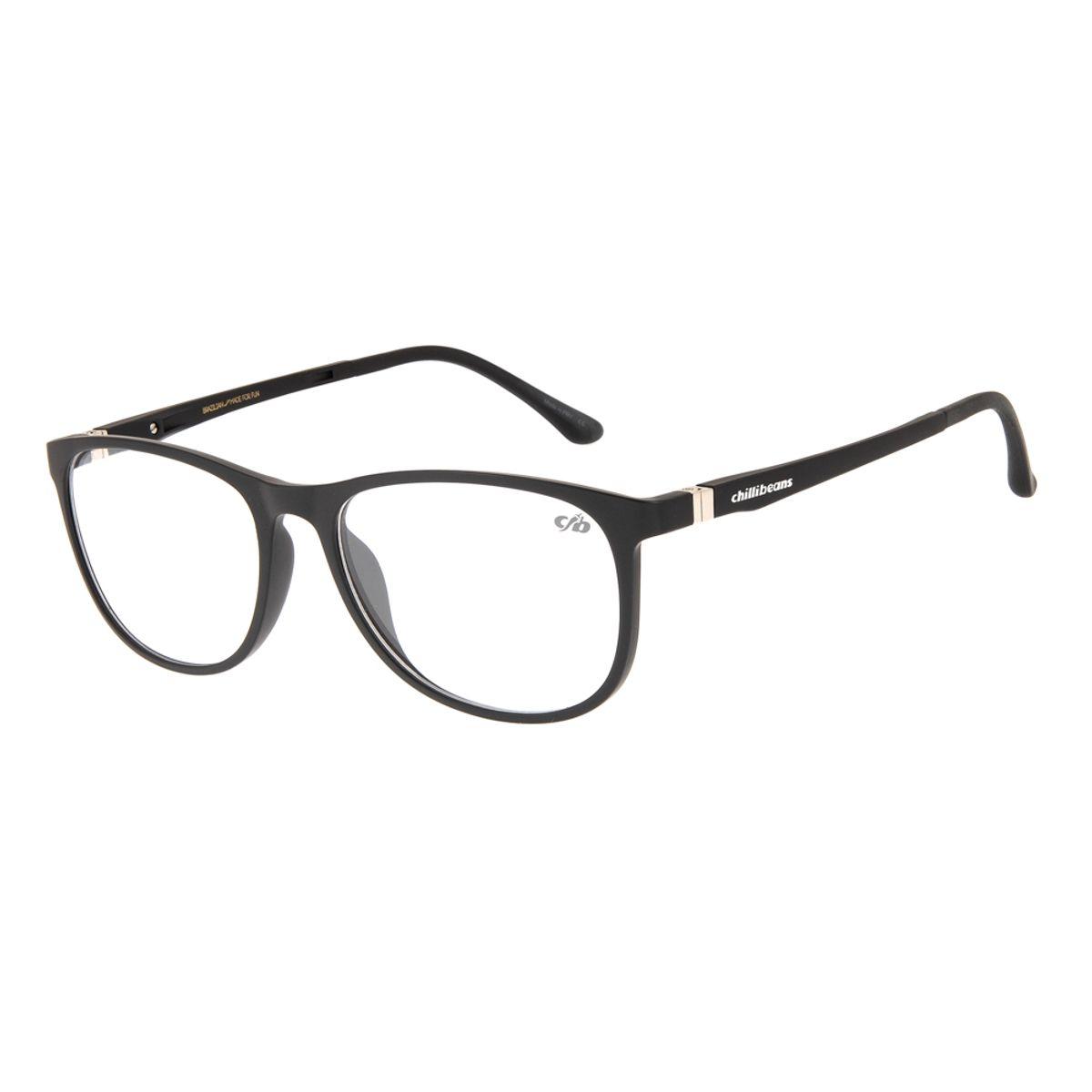 64287d17d Armação para Óculos de Grau Feminino Chilli Beans Preto 0109 -  LV.IJ.0109.0101 M. REF: LV.IJ.0109.0101. LV.