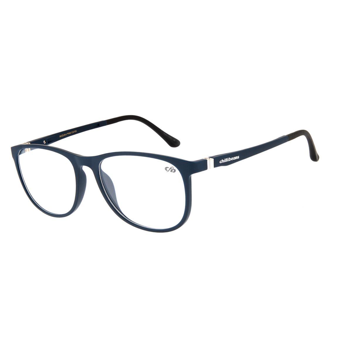 0dff65038 Armação para Óculos de Grau Feminino Chilli Beans Azul Escuro 0109 ...