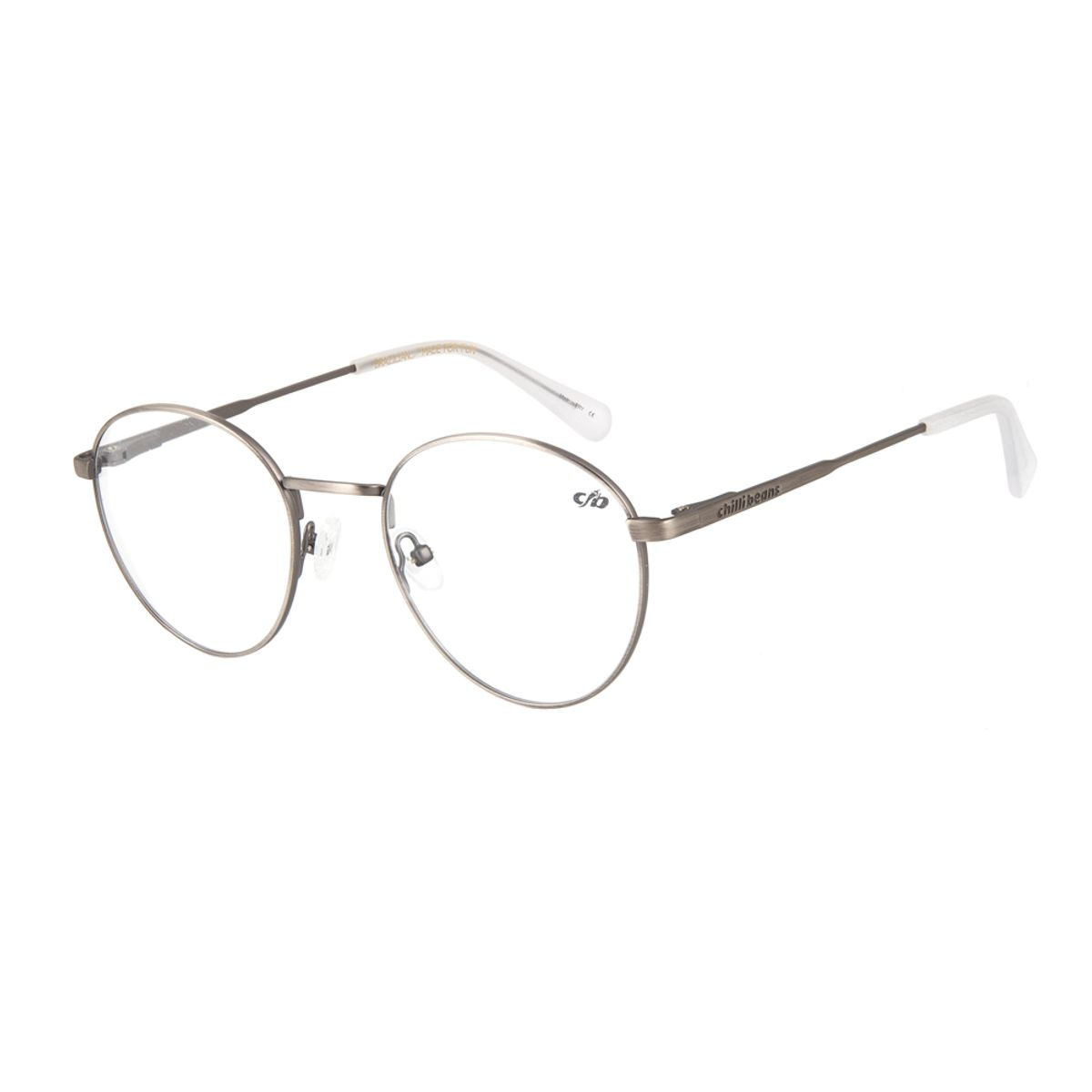05746433fae3d Armação para Óculos de Grau Unissex Chilli Beans Redondo Grafite ...