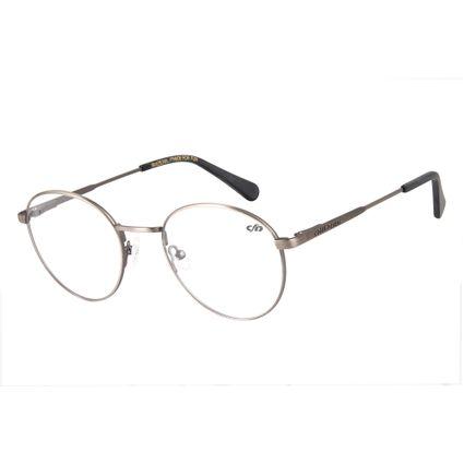 Armação para Óculos de Grau Unissex Chilli Beans Redondo Cinza Escuro LV.MT.0307-2828