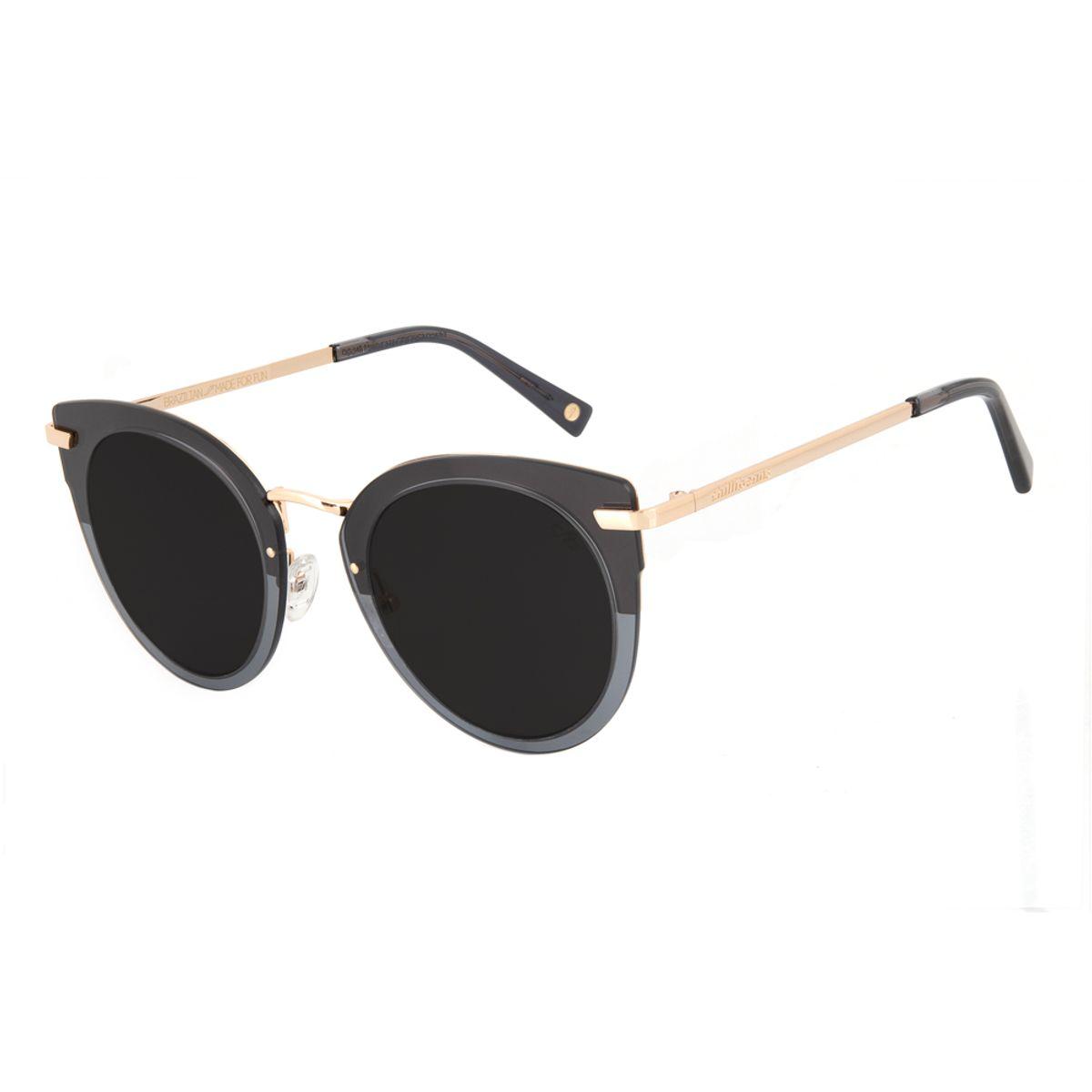 fca1e451c Óculos de Sol Feminino Chilli Beans Máxi Gatinho Dourado ...
