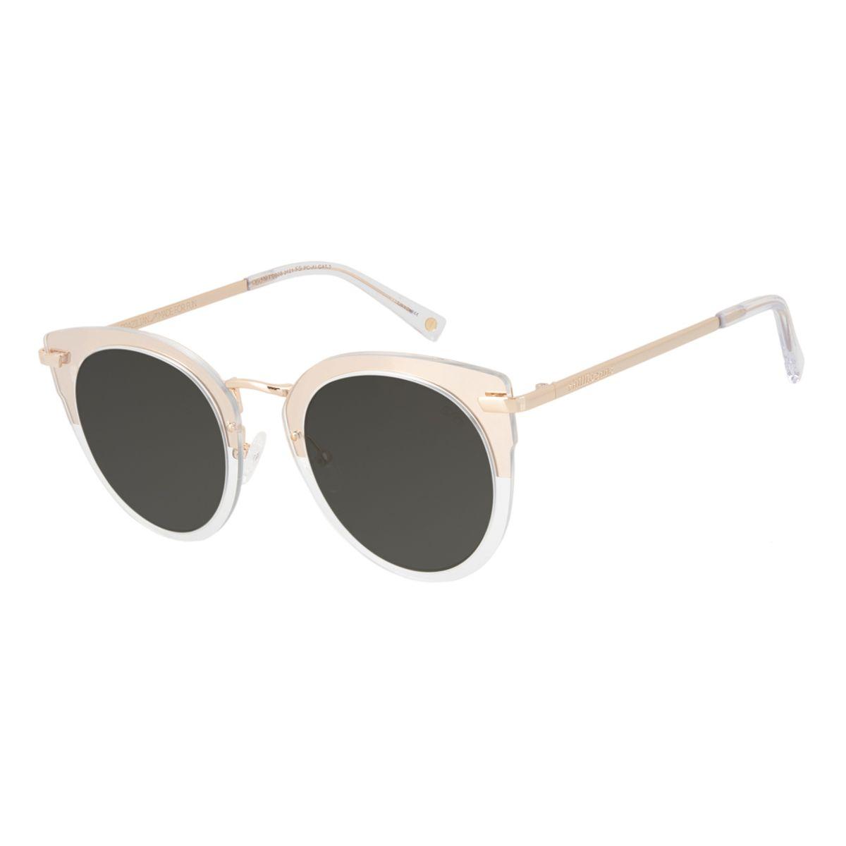 251bf6b53 Óculos de Sol Feminino Chilli Beans Máxi Gatinho Dourado ...