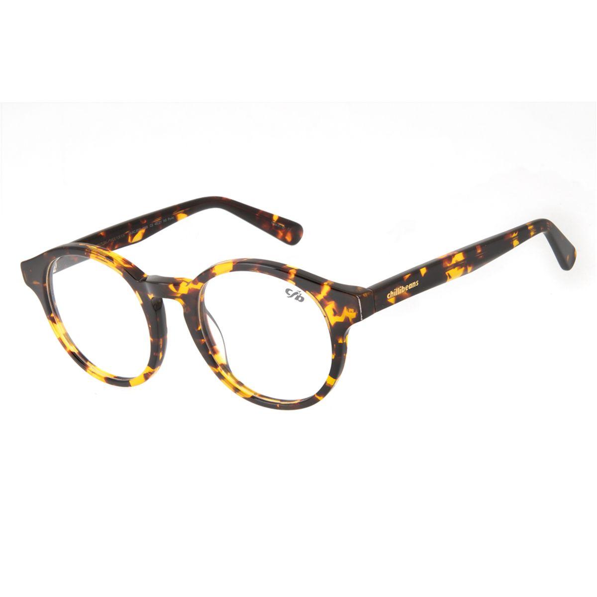c4fb4de3ac096 Armação para Óculos de Grau Chilli Beans 70 s Tartaruga 0509 ...
