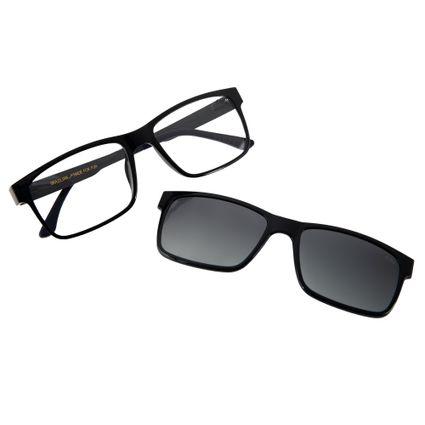 ebcdd61242ef9 Armação para Óculos de Grau Masculino Chilli Beans Multi 2 em 1 Polarizado  Azul 0137