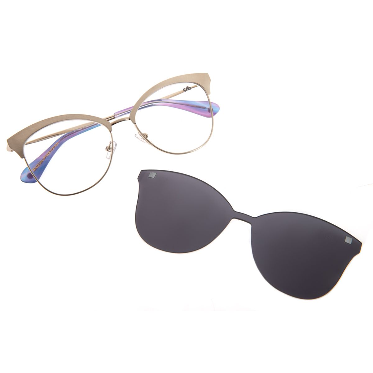494cf6ebb64a5 Armação para Óculos de Grau Feminino Chilli Beans Multi 2 em 1 Prata ...
