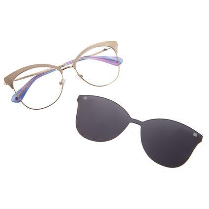Armação Para Óculos de Grau Feminino Chilli Beans Multi 2 em 1 Prata LV.MU.0159-0407