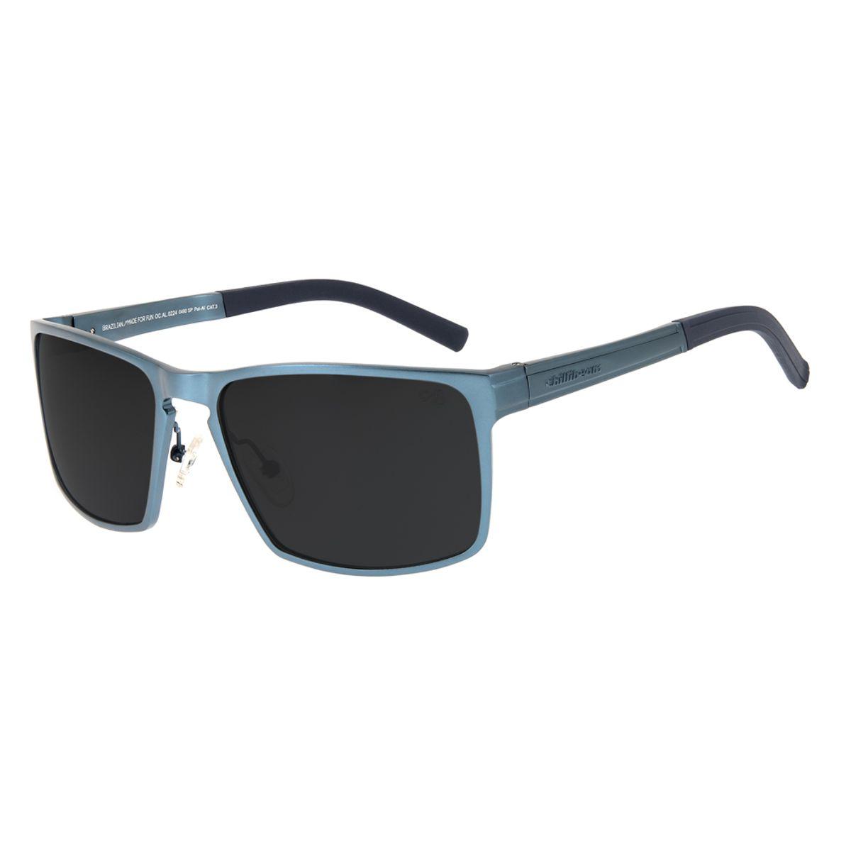 27301ca41e9c0 Óculos de Sol Chilli Beans Masculino Sport Polarizado Azul Escuro ...