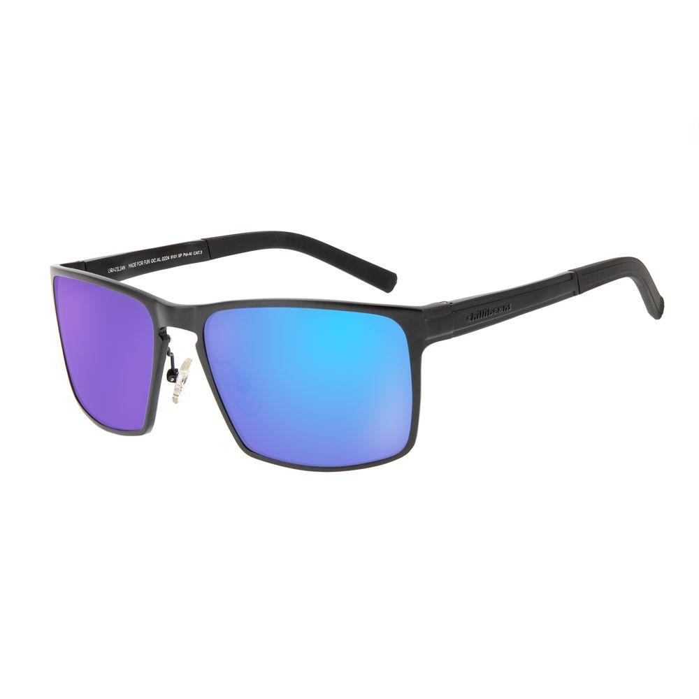 20d2b0058 Óculos de Sol Chilli Beans Masculino Sport Polarizado Preto Espelhado 0224  - OC.AL.0224.9101 G