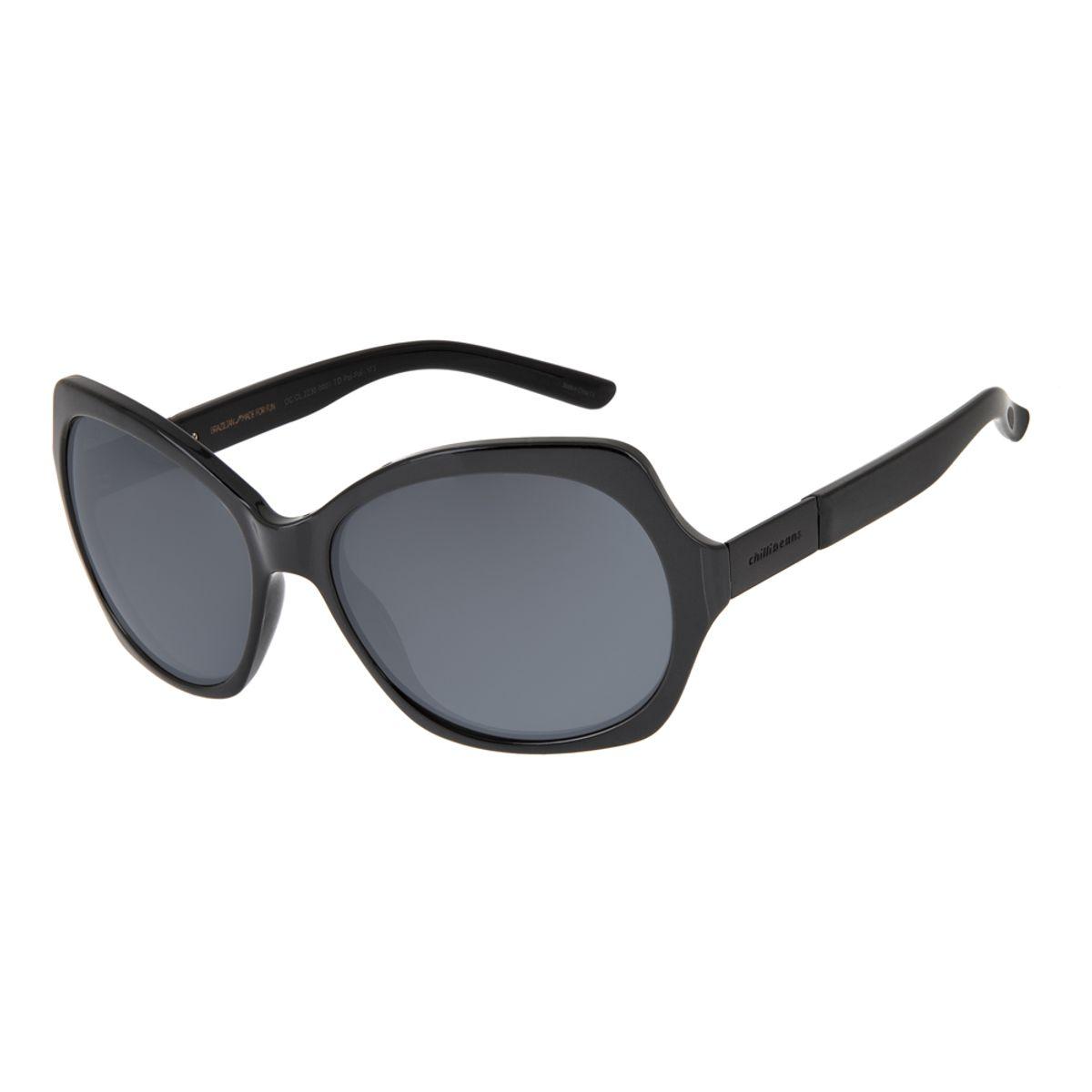 393c684312234 Óculos de Sol Chilli Beans Feminino Curvas Polarizado Preto - Chilli ...