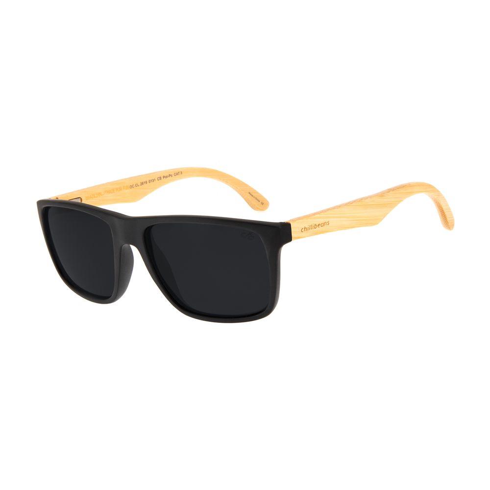 Óculos de Sol Masculino Bamboo Polarizado Fosco OC.CL.2619-0131