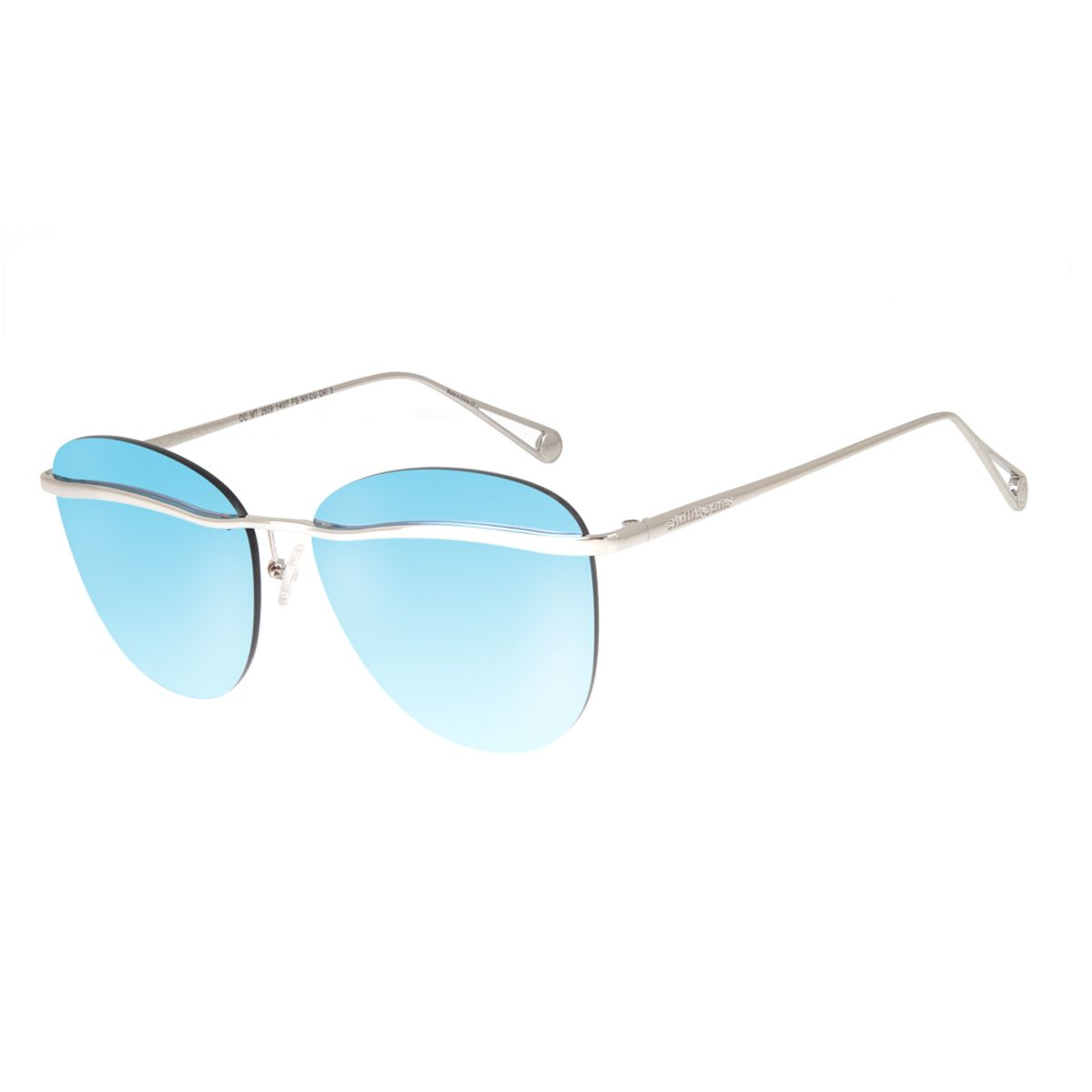 47771f9d4 Óculos de Sol Chilli Beans Feminino Metal Máxi Lente Flutuante Prata ...