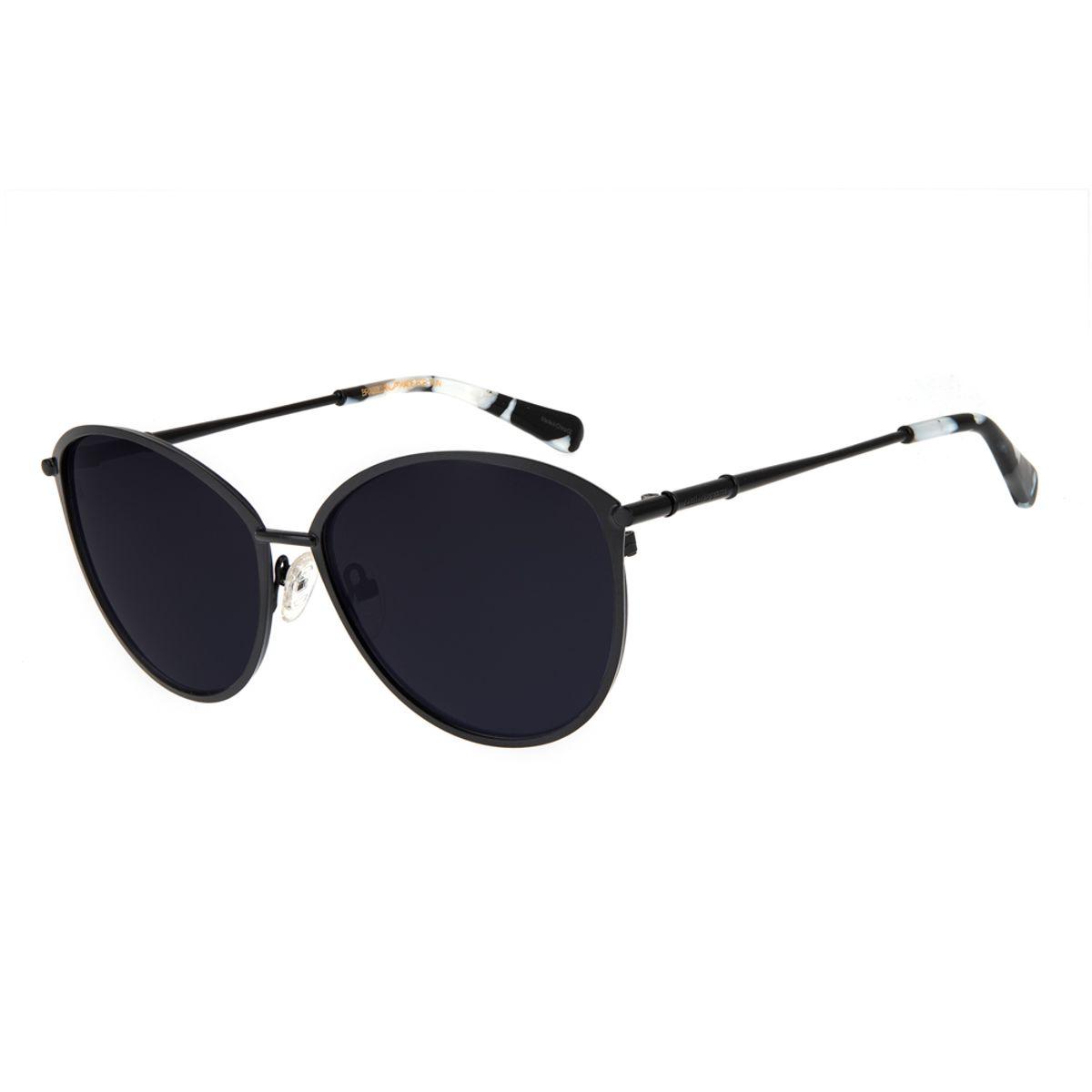 0106ddef2a4c6 Óculos de Sol Chilli Beans Feminino Gatinho Metal Preto 2607 ...
