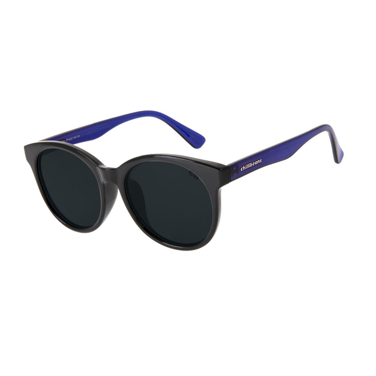 5bf39a1ef Óculos de Sol Chilli Beans Feminino Bicolor Redondo Preto 2689 ...
