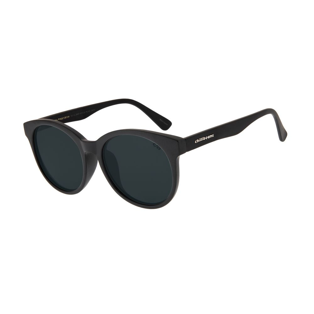 1ae88d047 Óculos de Sol Chilli Beans Feminino Redondo Preto Fosco 2689 -  OC.CL.2689.0131 M
