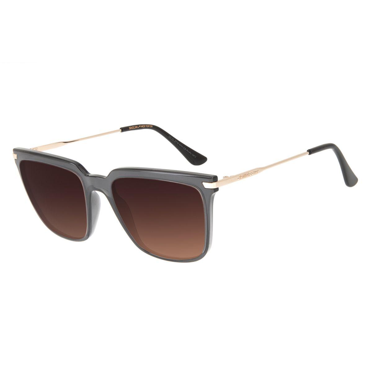5016f79ea Óculos de Sol Chilli Beans Feminino Quadrado Degradê Marrom 2719 ...