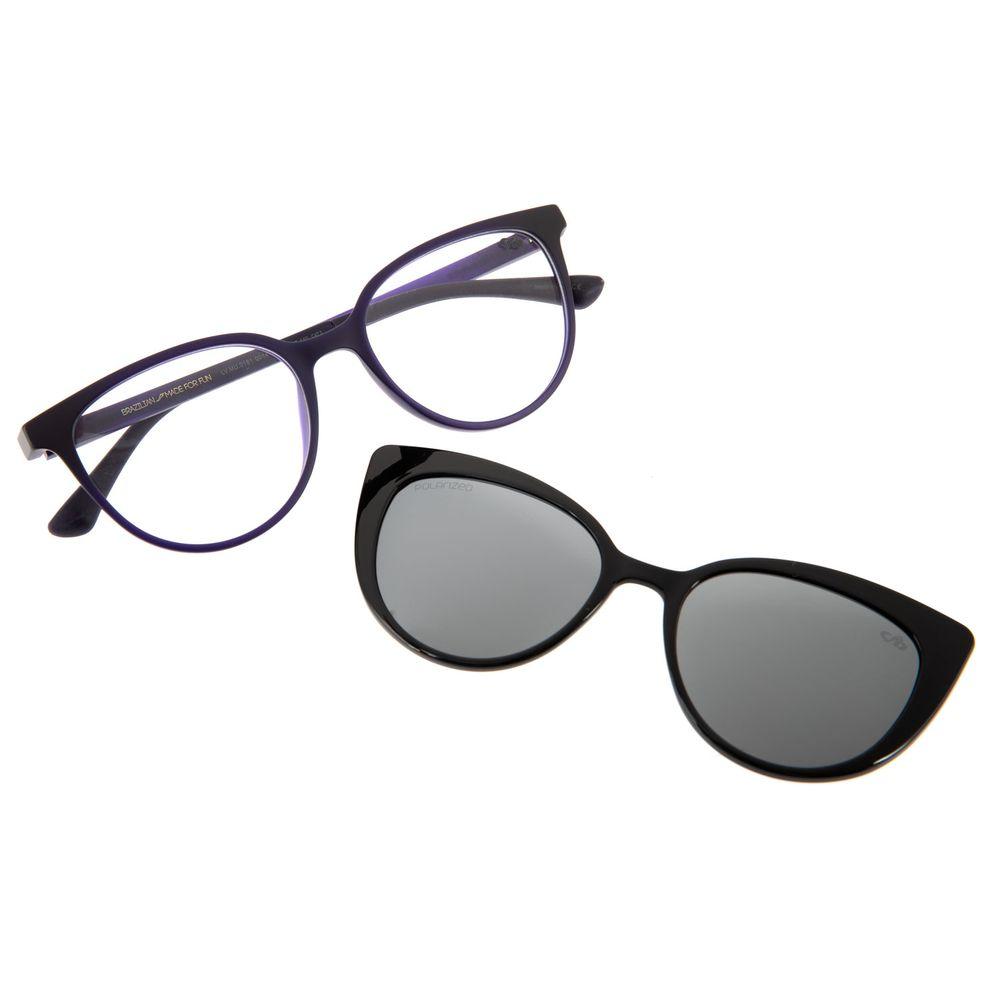 Armação Para Óculos de Grau Chilli Beans Feminino Multi 2 em 1 Roxo Polarizado LV.MU.0181-0014