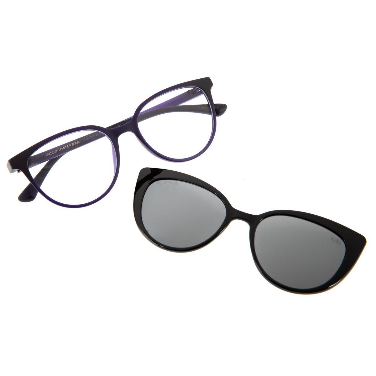 10ee6f58d1835 Armação para Óculos de Grau Chilli Beans Feminino Multi 2 em 1 Roxo ...