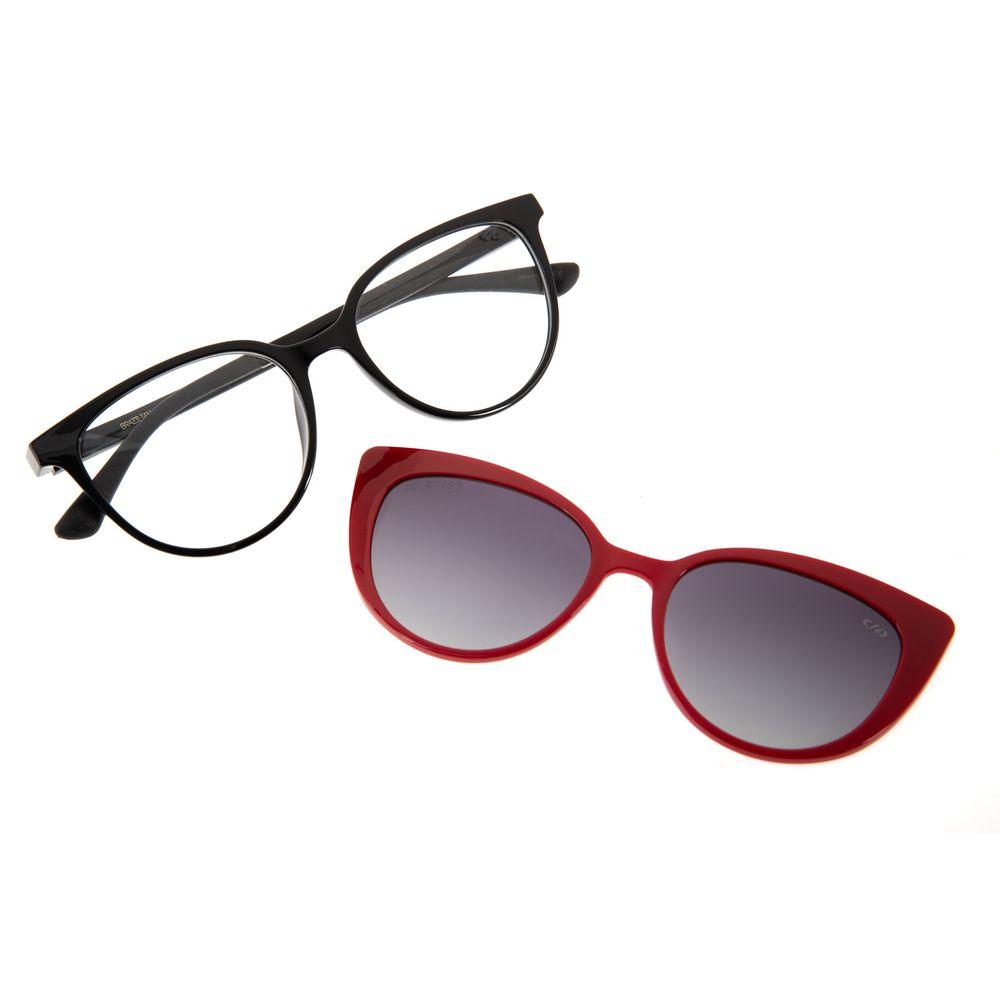 Armação Para Óculos de Grau Chilli Beans Feminino Multi 2 em 1 Preto Polarizado LV.MU.0181-2001